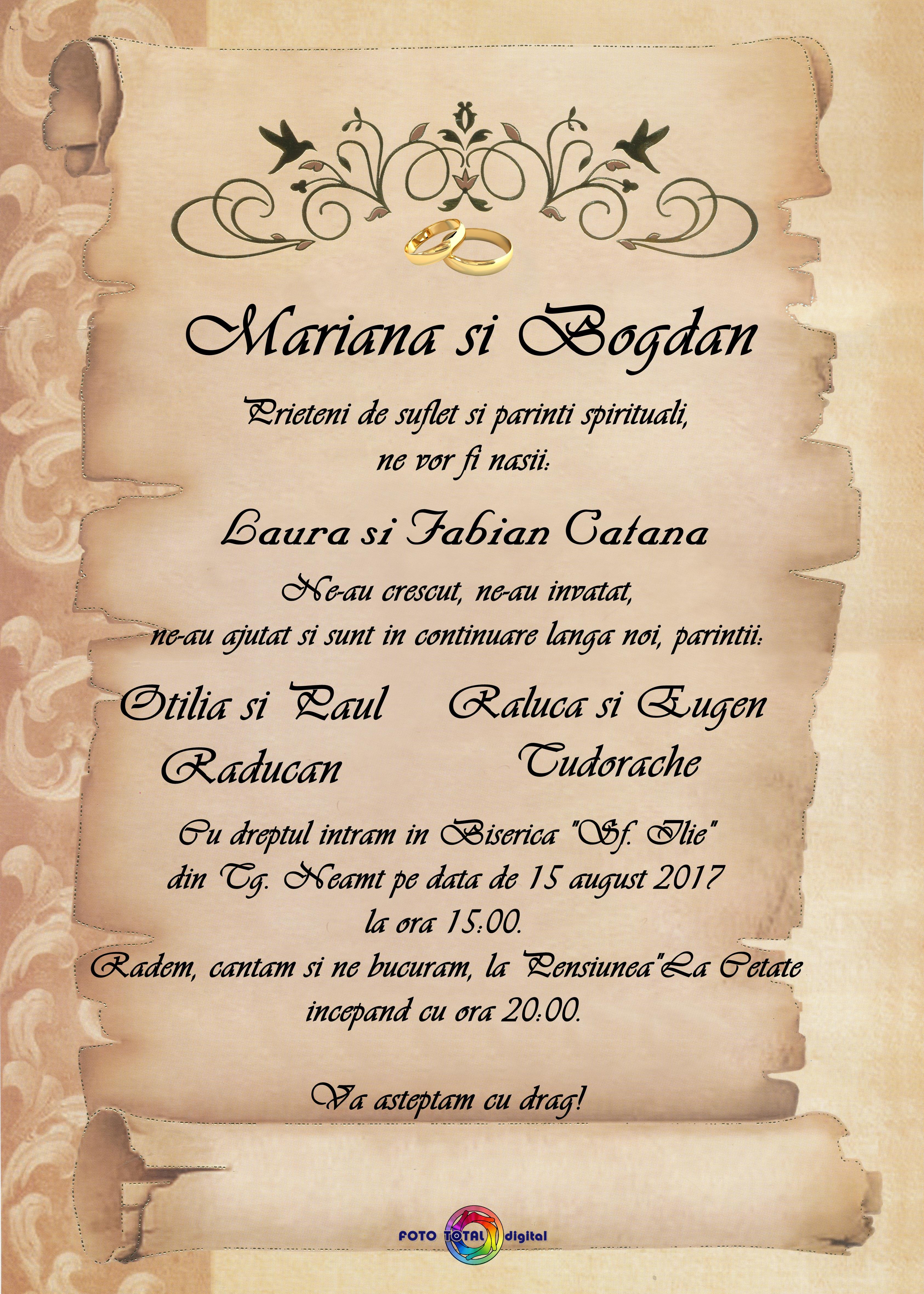 Invitatii Nunta Foto Total Digital